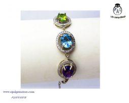 قیمت دستبند زبرجد، آمیتیست و توپاز