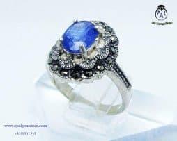 خرید انگشتر یاقوت آبی زنانه با قیمت مناسب