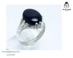 خرید انگشتر مردانه عقیق سیاه با قیمت مناسب
