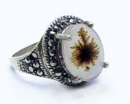خرید انگشتر عقیق شجر با قیمت مناسب