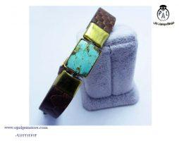 خرید دستبند چرم و فیروزه با قیمت مناسب