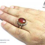 قیمت انگشتر نقره عقیق یمنی مردانه خاص