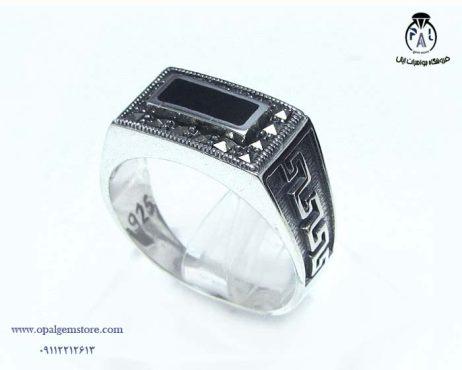خرید انگشتر نقره مردانه اسپرت با قیمت مناسب