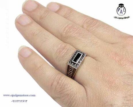 قیمت انگشتر نقره مردانه اسپرت