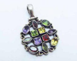 خرید آویز نقره زنانه چند جواهر با قیمت مناسب