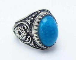 خریدانگشتر نقره فیروزه مردانه با قیمت مناسب