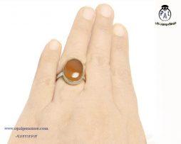 قیمت انگشتر نقره زنانه عقیق یمنی شرف الشمس