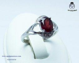فروش انگشتر نقره زنانه گارنت با قیمت مناسب