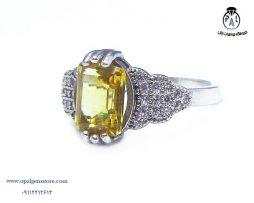 فروش انگشتر نقره زنانه سیترین با قیمت مناسب