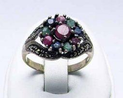 خرید انگشتر چند جواهر با قیمت مناسب