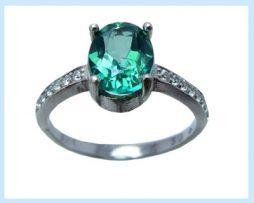 خرید انگشتر نقره زنانه توپاز سبز با قیمت مناسب
