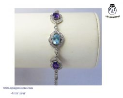 خرید دستبند آمیتیست و آکومارین با قیمت مناسب