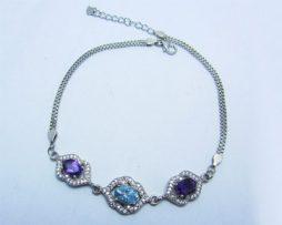 خرید دستبند آمیتیست و آکوامارین با قیمت مناسب