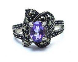 خرید انگشتر نقره آمتیست زنانه با قیمت مناسب