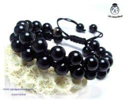خرید دستبند بافت عقیق سیاه با قیمت مناسب