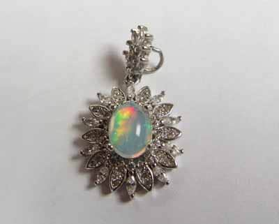 white opal with play of color