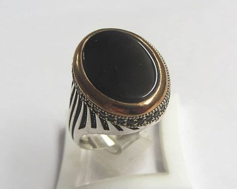 black agate ring