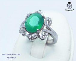 خریدانگشتر زنانه عقیق سبز با قیمت مناسب