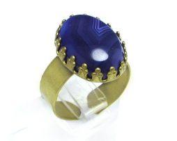 خرید انگشتر نقره زنانه عقیق سلیمانی بنفش با قیمت مناسب