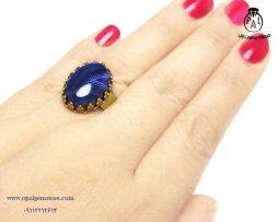 قیمت انگشتر نقره زنانه عقیق سلیمانی بنفش