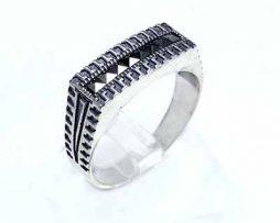 خرید انگشتر نقره مردانه اسپرت