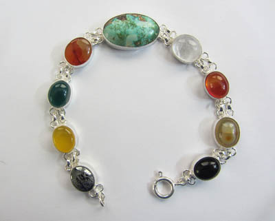 color gemstone bracelet