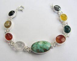 color gemstone bracelet
