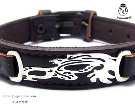 قیمت دستبند چرم و نقره