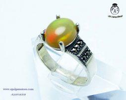 قیمت انگشتر نقره زنانه اپال اتیوپی با قیمت مناسب