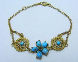 خرید دستبند نقره زنانه فیروزه نیشابوری با قیمت مناسب