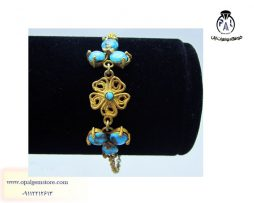 قیمت دستبند نقره زنانه فیروزه نیشابوری
