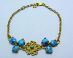 فروش دستبند نقره زنانه فیروزه نیشابوری با قیمت مناسب