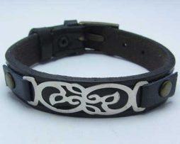 دستبند چرمی، دستبند نقره و چرم، دستبند چرم و نقره، دستبند اسپرت