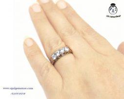 خرید انگشتر نقره زنانه طرح جواهر با قیمت مناسب