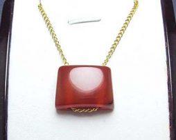 خرید گردنبند آویز اسپرت عقیق با زنجیر نقره قیمت مناسب