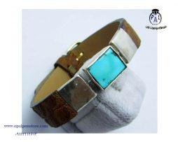 قیمت دستبند چرم و فیروزه نیشابوری