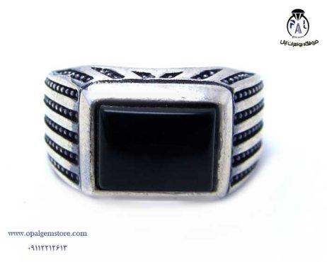 فروش انگشتر نقره عقیق سیاه با قیمت مناسب