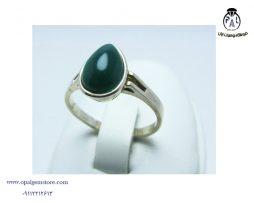 خرید انگشتر زنانه عقیق سبز با قیمت مناسب