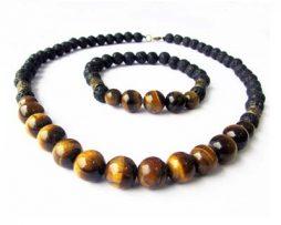 خرید دستبند و گردنبند چشم ببر و لاوا با قیمت مناسب