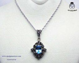 خرید گردنبند زنانه توپاز آبی با قیمت مناسب