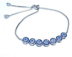 خرید دستبند نقره چشم نظر با قیمت مناسب