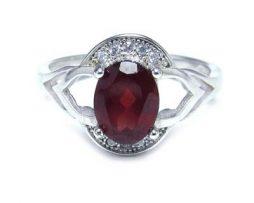 خرید انگشتر نقره زنانه گارنت با قیمت مناسب