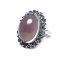 فروش انگشتر نقره زنانه عقیق یاسی با قیمت مناسب