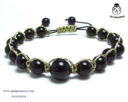 فروش دستبند بافت عقیق سیاه قیمت مناسب