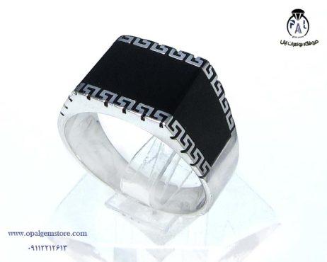 خرید انگشتر نقره مردانه نگین سیاه با قیمت مناسب
