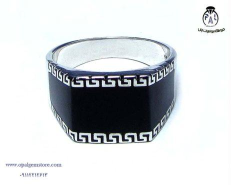 فروش انگشتر نقره مردانه نگین سیاه با قیمت مناسب