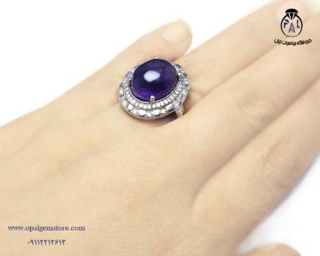 خرید انگشتر نقره آمیتیست زنانه با قیمت مناسب