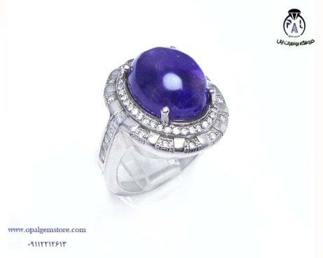 فروش انگشتر نقره آمیتیست زنانه با قیمت مناسب