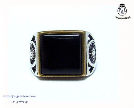 قیمت انگشتر نقره مردانه عقیق سیاه