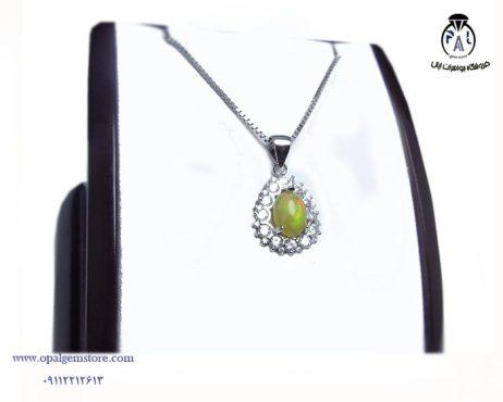 قیمت آویز نقره زنانه اپال
